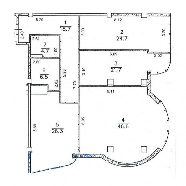 Планировки трехкомнатных квартир 153.9 м^2